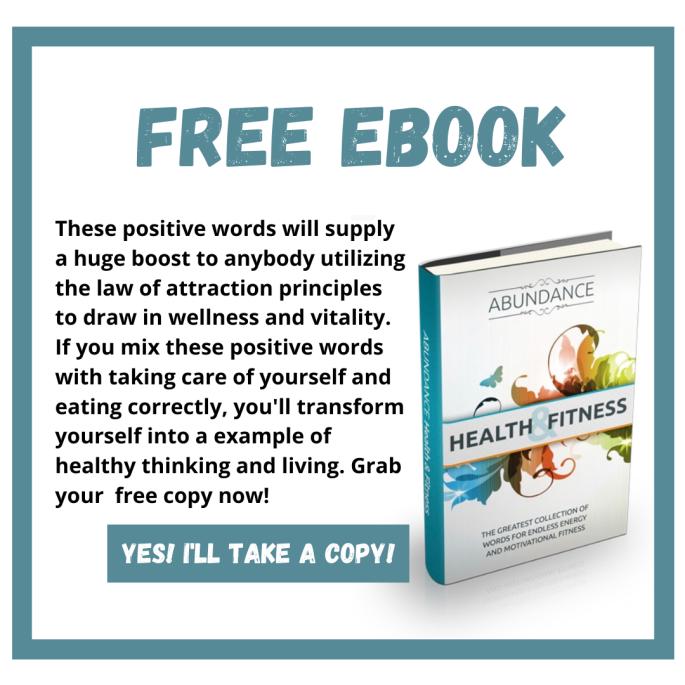 abundance, health and fitness ebook