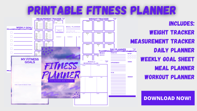 fitness planner printable 2021