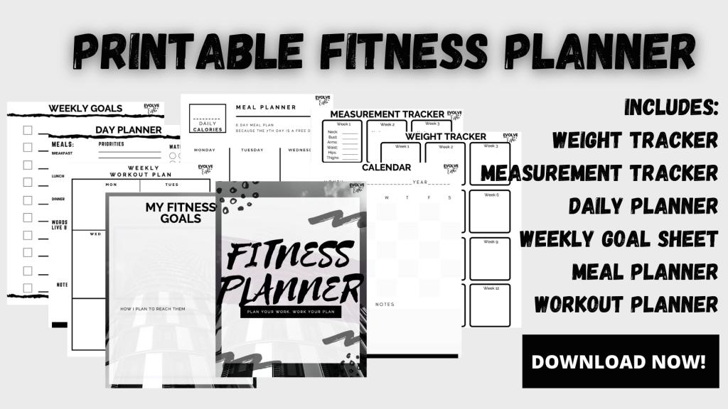 printable fitness planner